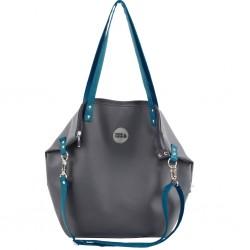 Střední kabelka MANA MANA Grafitová/Modrá