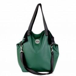 Velká kabelka MANA MANA Zelená/Černá