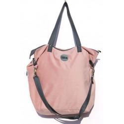 Velká kabelka MANA MANA Světlá růžová/Grafitová