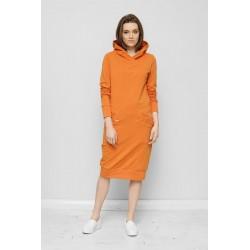 Šaty s kapucí Mandy Oranžová