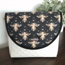 Malá kabelka FARBOTKA PURO MINI Krémová/Včely I