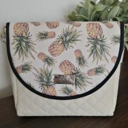 Malá kabelka FARBOTKA PURO MINI Krémová/Ananasy