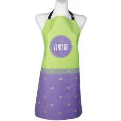 Kuchyňská bavlněná zástěra VINTAGE, fialová, Essex, 100% bavlna