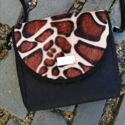 Malá kabelka FARBOTKA PURO MINI Černá/Žirafí vzor