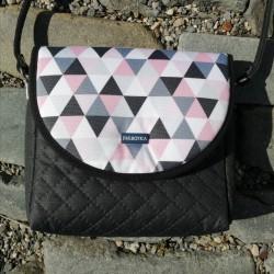 Malá kabelka FARBOTKA PURO MINI Černá/Triangle