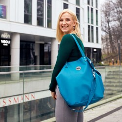 Velká Design Městská taška Mořská zeleň/Růžová