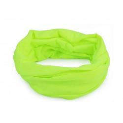 Multifunkční šátek / rouška / nákrčník Zelená neonová