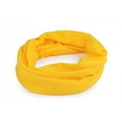 Multifunkční šátek / rouška / nákrčník Žlutá