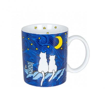 Hrnek Kočky v noci