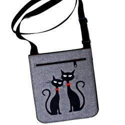 Eco kabelka přes rameno Kočky II