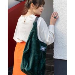 Elegantní kabelka MANA MANA Hobo Zelená samet