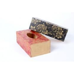 Krabička na kapesníky - černá - se zlatým dekorem