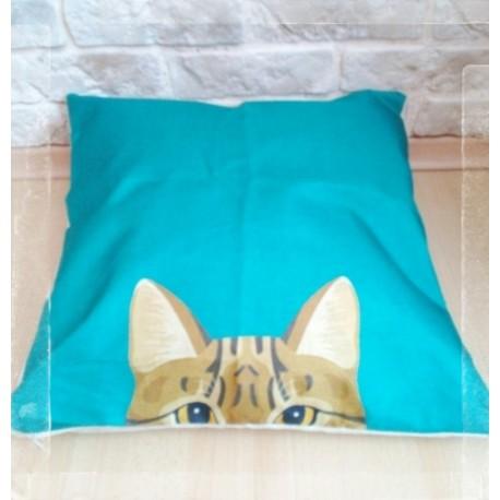 Povlak na polštář Vykukující kočka
