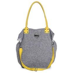 Velká Design Městská taška Šedá /žlutá