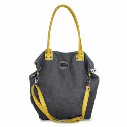 Velká Design Městská taška Denim/Žlutá