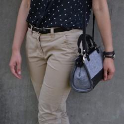 Eco kabelka plstěná Mini Úžasná Černá
