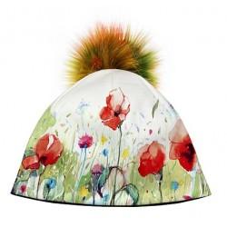 Zimní čepice dámská - Jarní louka