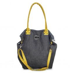 Střední kabelka MANA MANA Denim/Žlutá