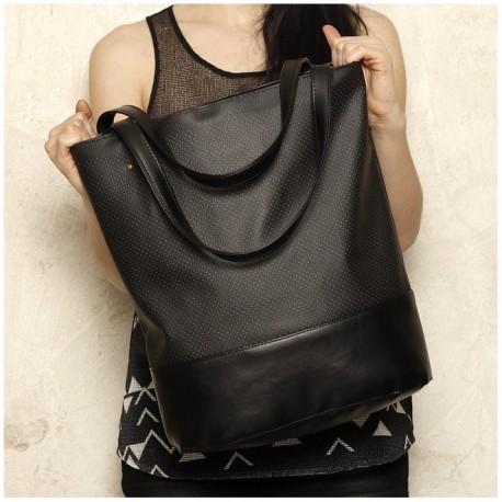 Velká kabelka COCOONO Simply Shopper Černá/Kombinovaná