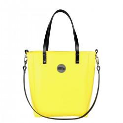 Malá kabelka MANA MANA Minimalistická Žlutá/Černá kůže