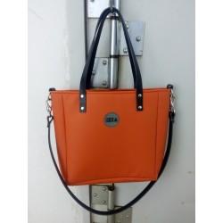 Malá kabelka MANA MANA Minimalistická Oranžová/Černá kůže