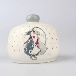 Keramický držák na houbičku Kočky