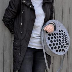 Eco kabelka FELT LABEL Kruhová Černá