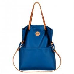 Střední kabelka MANA MANA Modrá/Karamelová kůže