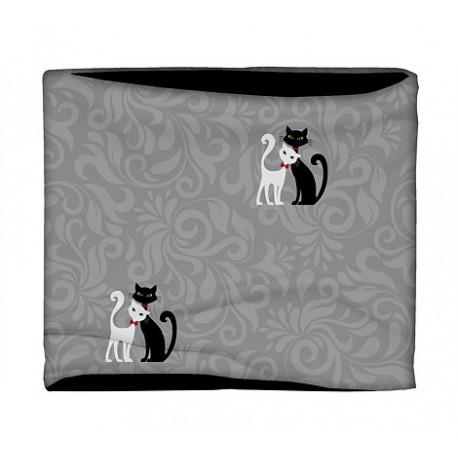 Nákrčník - Kočky Černá & Bílá