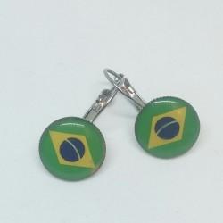 Náušnice Brazílie vlajka