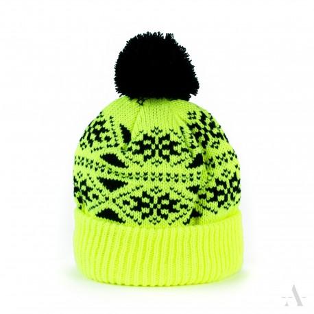 Zimní čepice dámská - Pletená s bambulí - Žlutá - Dareceknamiru.cz 04f822e06f
