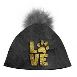 Zimní čepice dámská - Tlapka LOVE