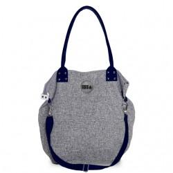 Velká kabelka MANA MANA Černo-bílá/Modrá