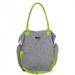Střední kabelka MANA MANA Černo-bílá/Zelená