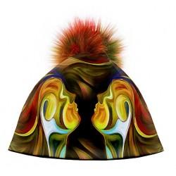 Zimní čepice dámská - Iluze