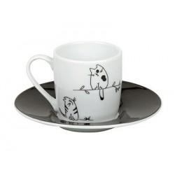Hrnek Kočka funny - espresso