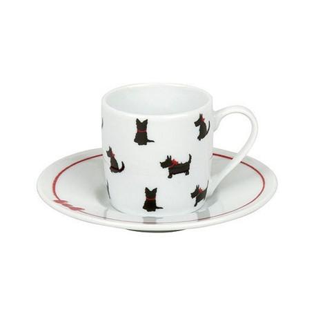 Hrnek Pes red ribbon - espresso
