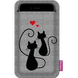 Obal na mobil Kočičí láska