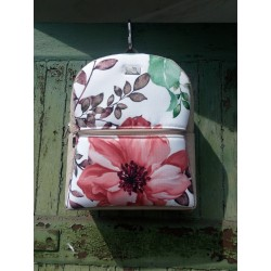Batoh dámský FARBOTKA Hnědý Květy