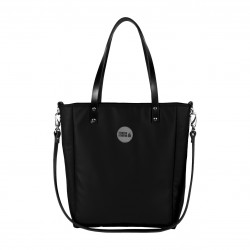 Velká kabelka MANA MANA Minimalistická Černá/Černá kůže