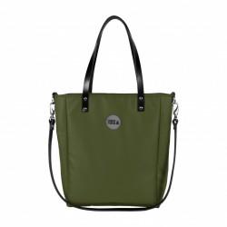 Malá kabelka MANA MANA Minimalistická Olivová/Černá kůže