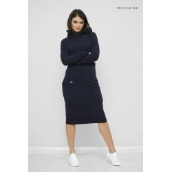 Šaty s kapucí Mandy Modrá