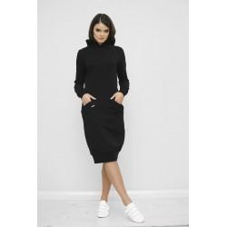 Šaty s kapucí Mandy Černá